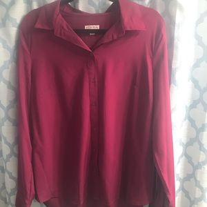 Merona Berry Button Down Blouse